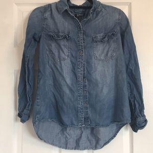 Buffalo David Bitton denim flannel shirt